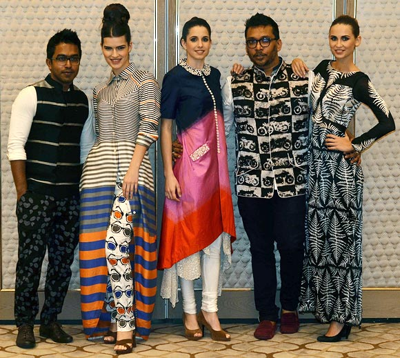 Vogue Fashion Fund 2013 semi-finalists Dev R Nil with creations from their latest collection