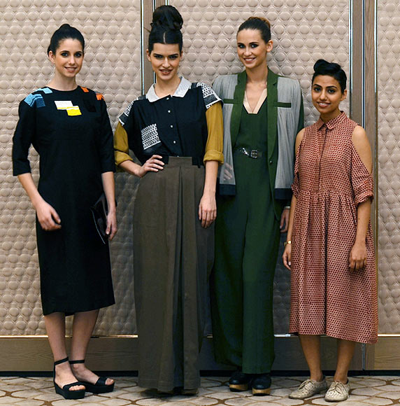 Vogue Fashion Fund 2013 semi-finalist Ruchika Sachdeva with creations from her latest collection