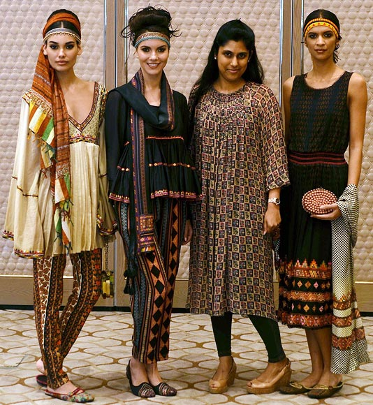 Vogue Fashion Fund 2013 semi-finalist Tanvi Kedia with creations from her latest collection