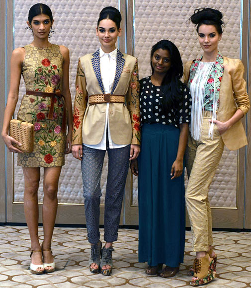 Vogue Fashion Fund 2013 semi-finalist Archana Rao with creations from her latest collection