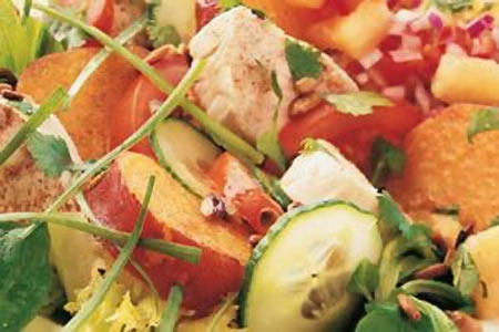 Poached Chicken with Pineapple Salsa