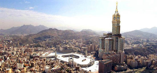Fairmont housed in Makkah Clock Royal Tower, Mecca