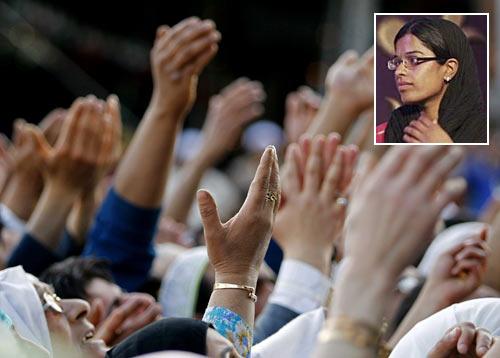 Inset: Rukhsana Kausar
