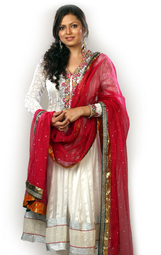 The gallery for --> Madhubala Serial Golden Saree