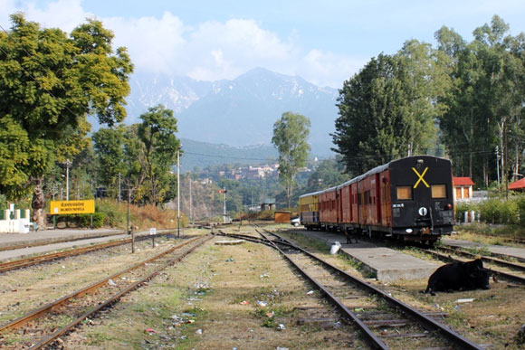 Baijnath Paprola station on the toy train route
