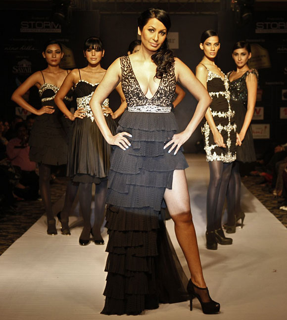 Kashmira Shah models a Rocky S creation.