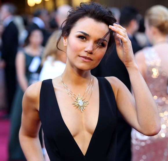 Actress Samantha Barks in the film