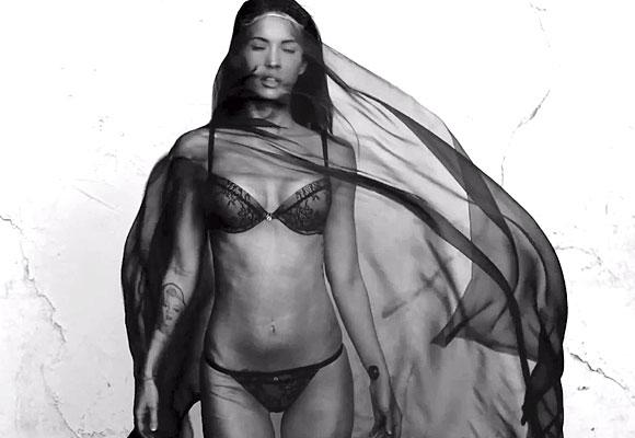 Megan Fox poses for Emporio Armani Underwear's Spring/Summer ad campaign