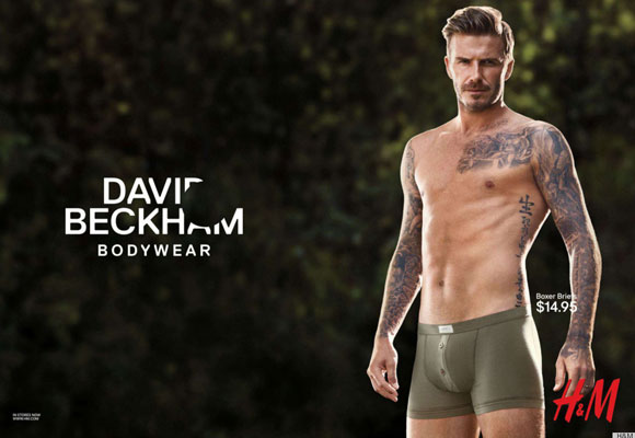 David Beckham for H and M ad campaign