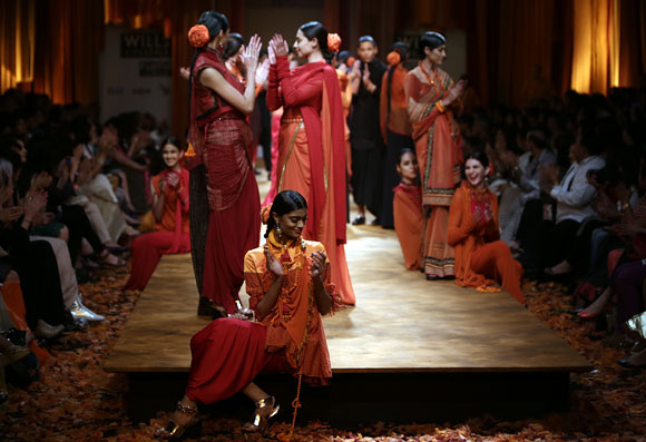 Photos: Tarun Tahiliani brings Maha Kumbh on the runway