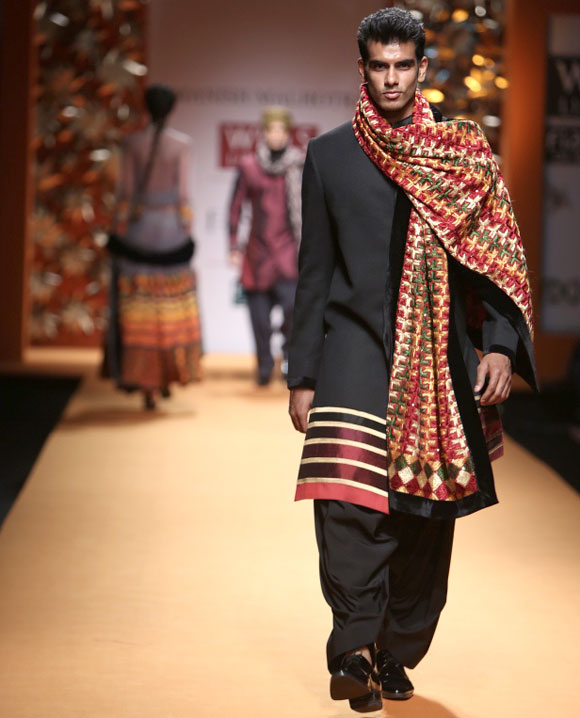 Manish Malhotra creation at Wills Lifestyle India Fashion Week.