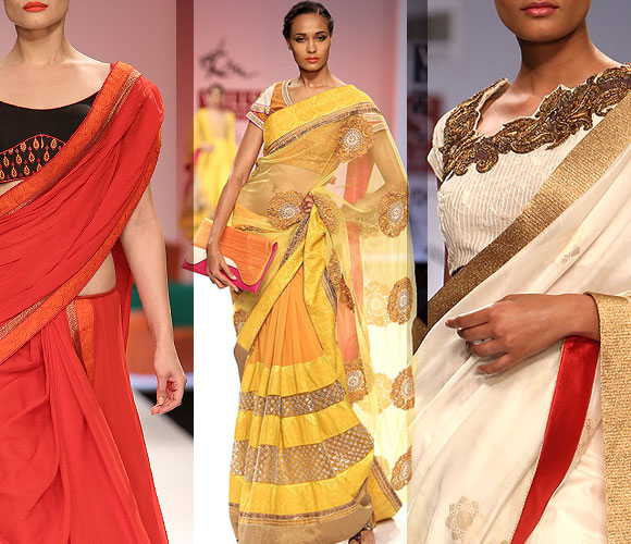 Images: Hot models sizzle in saris