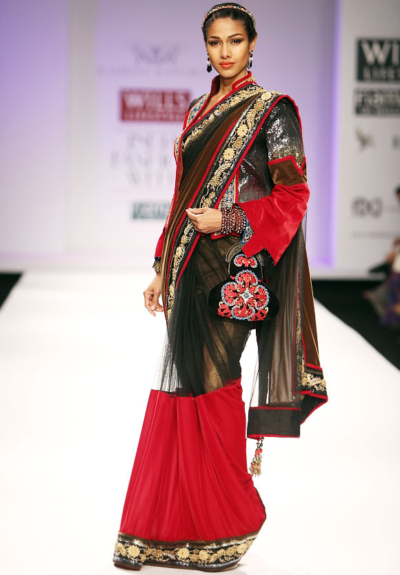 Nethra Raghuraman in a Rajdeep Ranawat creation.