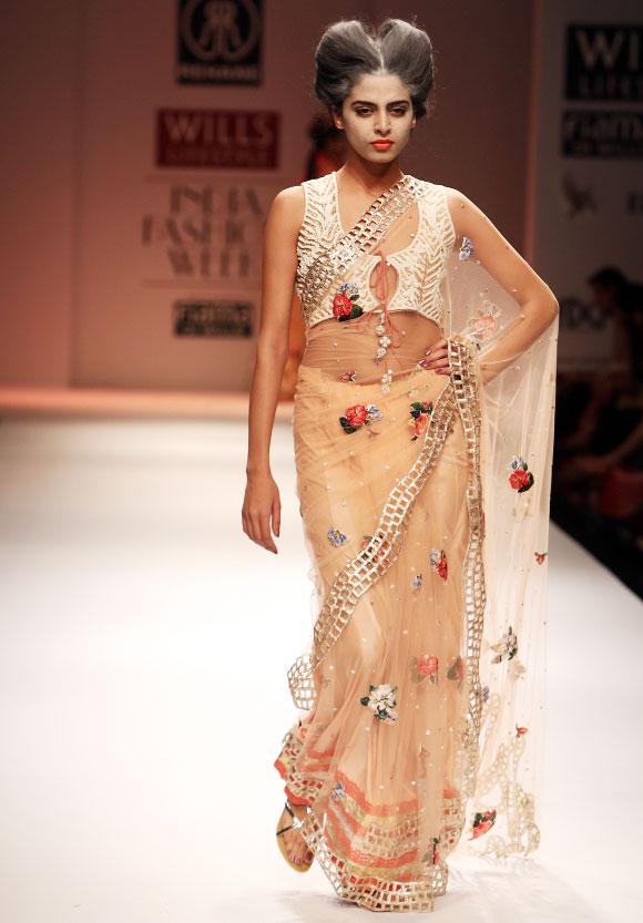 Sheer sari by Rehane.