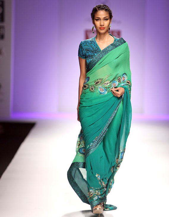Nethra Raghuraman in a Sonia Jetleey creation.