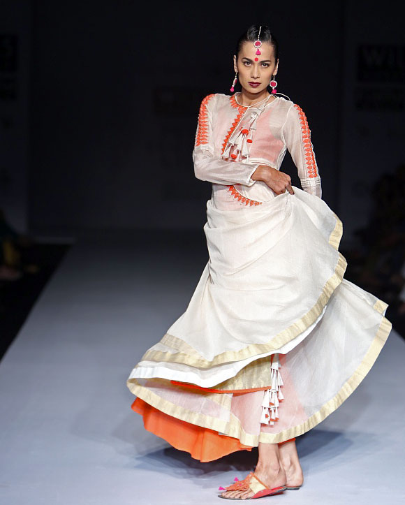 Assam inspired Vaishali Shadangule's Autumn/Winter collection, which was showcased collection at the Wills Lifestyle India Fashion Week Autumn/Winter 2013 March 17.