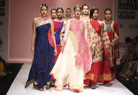 The designer hopes her collection brings her a step closer to taking traditional Indian textiles into the spotlight in the international fashion circuit.