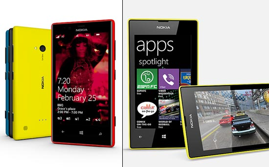 Collage of Nokia Lumia 720 and Nokia Lumia 520