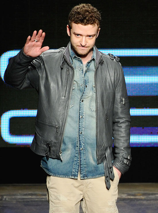 Justin Timberlake walks the runway at the William Rast Fall 2010 Fashion Show during Mercedes-Benz Fashion Week at Cedar Lake on February 17, 2010 in New York City.