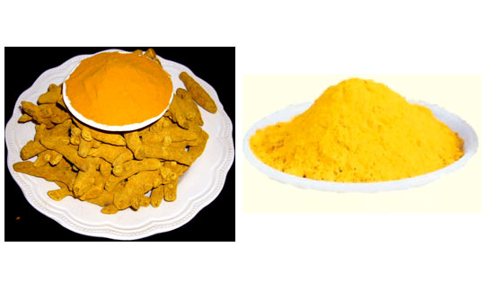Turmeric mixed with gram flour will gives you yellow colour
