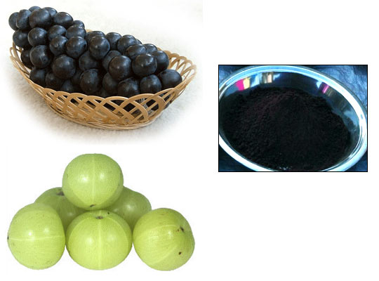 The juice of black grapes will give you jet black colour