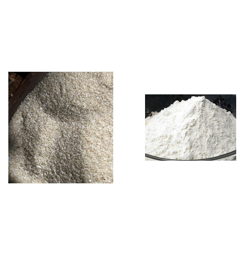 Rice flour or atta can be used for white colour