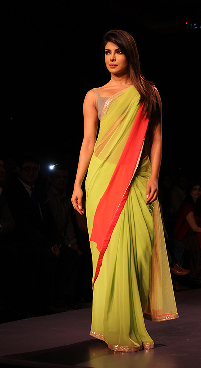 Priyanka Chopra walked the ramp at the Lakme Fashion Week