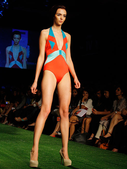 IMAGES: Sizzling beachwear on the LFW ramp