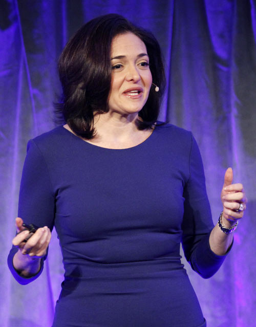 Facebook Chief Operating Officer Sheryl Sandberg delivers a keynote address at Facebook's