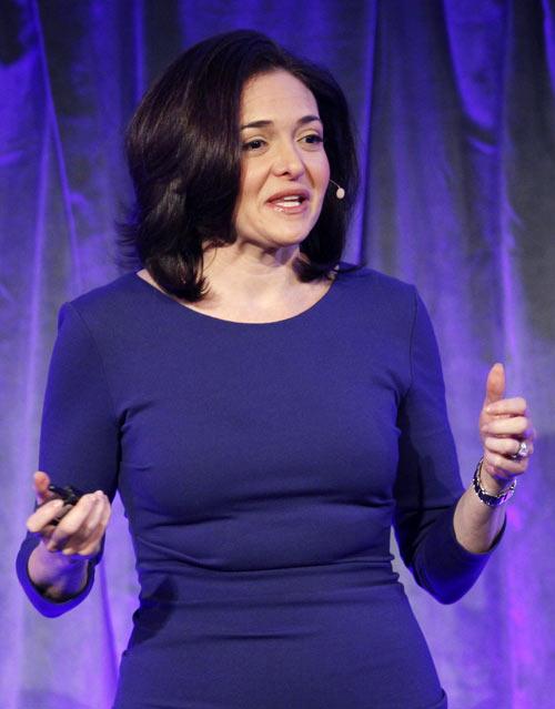 Facebook Chief Operating Officer Sheryl Sandberg delivers a keynote address at Facebook's