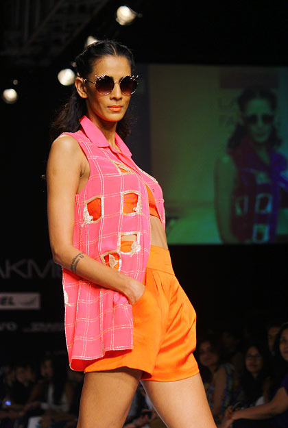 Kavita Kharayat in an Anushka Khanna creation