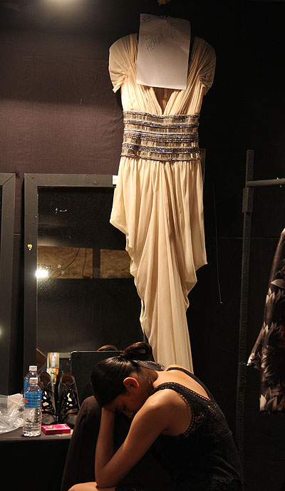 EXCLUSIVE: Backstage at Naeem Khan's show