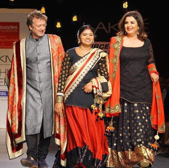 Rohit Bal, Sanjana Khedekar and Farah Khan