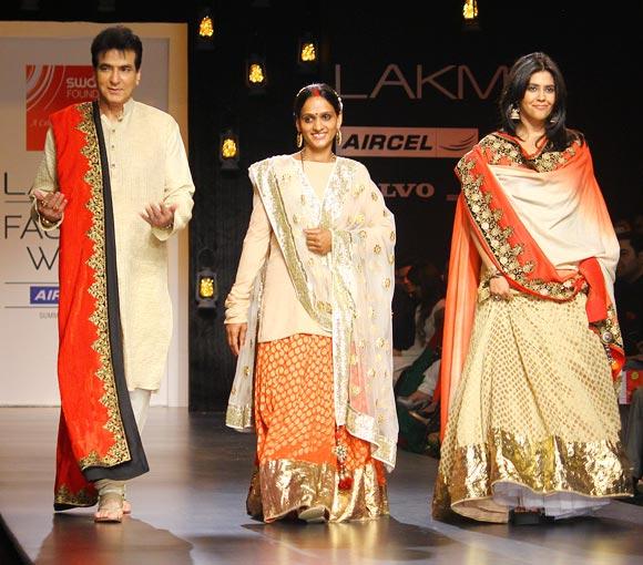 Jeetendra, Mangal Kesarkar and Ekta Kapoor