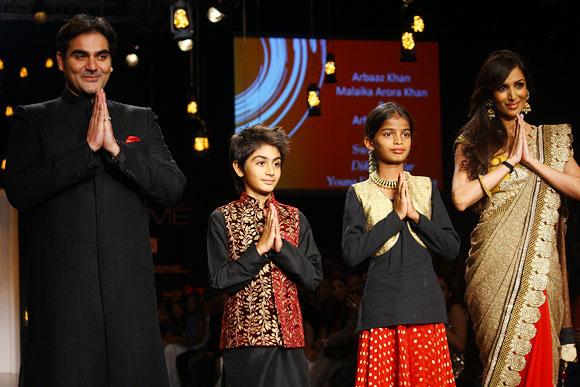 Arbaaz, Arhaan, Diksha and Malaika