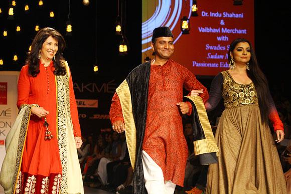 Dr Indu Shahani, Sudham Mali and Vaibhavi Merchant