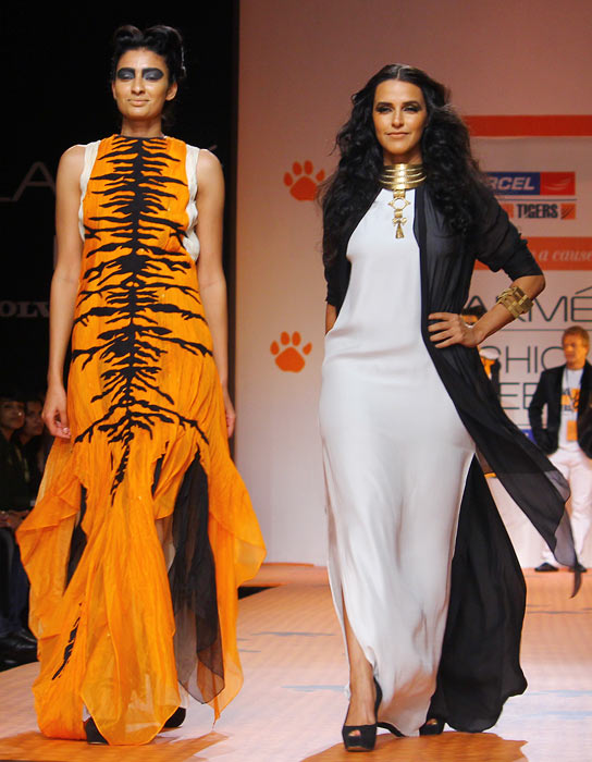 Neha Dhupia for Vaishali S for Save the Tiger