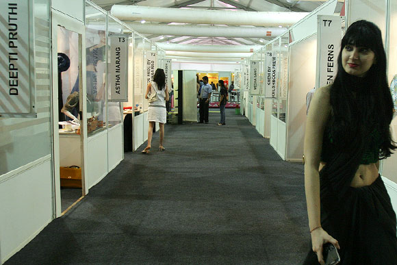 The entrance to the business centre where designers showcase their creations for prospective buyers