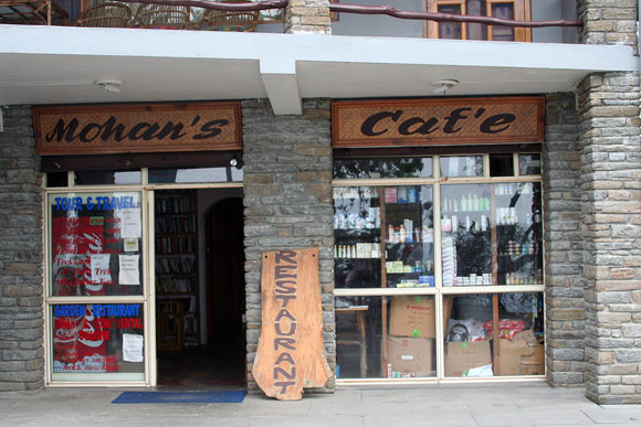 Mohan's Cafe -- send an email, buy your local groceries, and have a hot meal. All-in-one place!