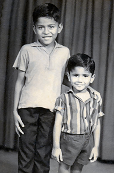 Narendra Kumar (L) and his brother Nandkishore in an undated photograph