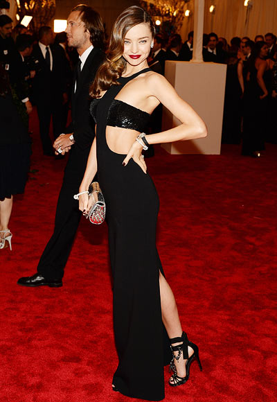 Miranda Kerr wore this cut-away Michael Kors creation at the Costume Institute Gala at the Metropolitan Museum of Art in New York City, in 2013.