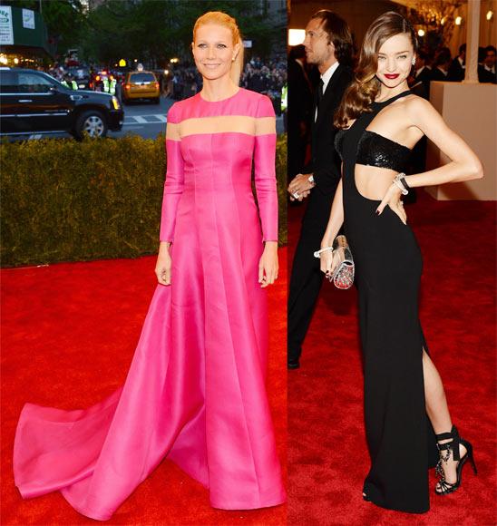 Gwyneth Paltrow and (right) Miranda Kerr