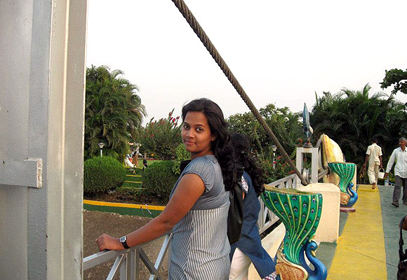 In happier times: Samidha Khandare