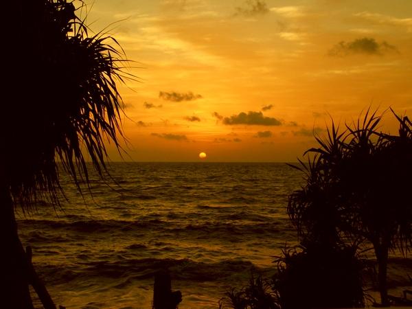 Our last sunset in Sri Lanka