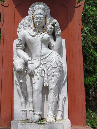 A statue inside the Sampurnanand Sanskrit University in Varanasi