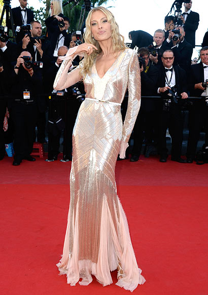 Petra Nemcova attends the 'Behind The Candelabra' premiere during The 66th Annual Cannes Film Festival at Theatre Lumiere on May 21, 2013 in Cannes, France