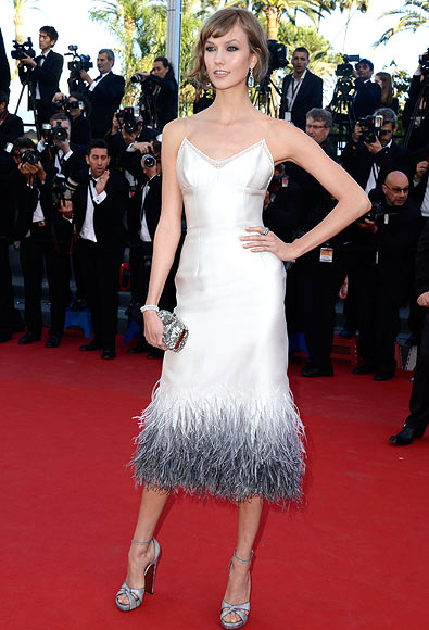 Model Karlie Kloss attends the 'The Immigrant' premiere during The 66th Annual Cannes Film Festival at the Palais des Festivals on May 24, 2013 in Cannes, France