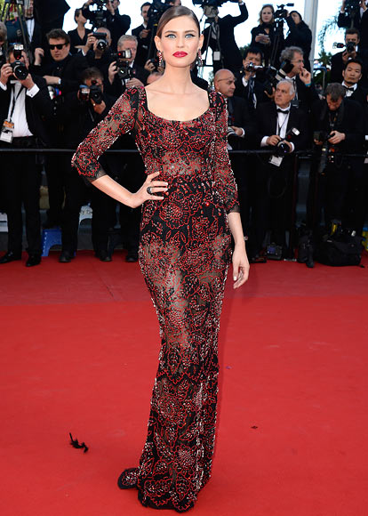 Bianca Balti attends the 'La Venus A La Fourrure' premiere during The 66th Annual Cannes Film Festival at the Palais des Festivals on May 25, 2013 in Cannes, France