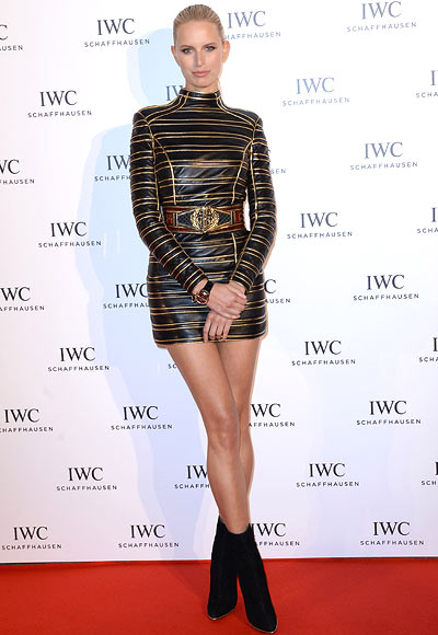 Model Karolina Kurkova attends the exclusive 'For The Love Of Cinema' event hosted by Swiss luxury watch manufacturer IWC Schaffhausen at the famous Hotel du Cap-Eden-Roc on May 19, 2013 in Antibes, France