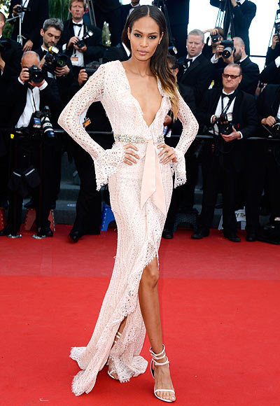 Model Joan Smalls attends the 'Cleopatra' premiere during The 66th Annual Cannes Film Festival at The 60th Anniversary Theatre on May 21, 2013 in Cannes, France